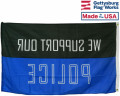 Back of Support Our Police Flag