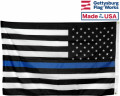 Back of Thin Blue Line Flag