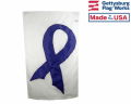Purple Ribbon Cancer Flag