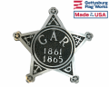 GAR Civil War Aluminum Grave Marker on rod