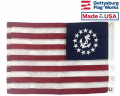 Back of US Yacht Ensign Flag
