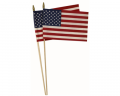 Economy USA Stick Flags with spear