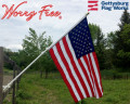 Worry free American flag