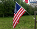 Back of Worry free American flag