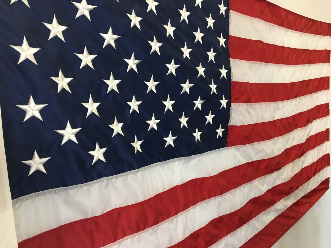 Black And Blue Check 5/' x 3/' Large Sleeved Flag