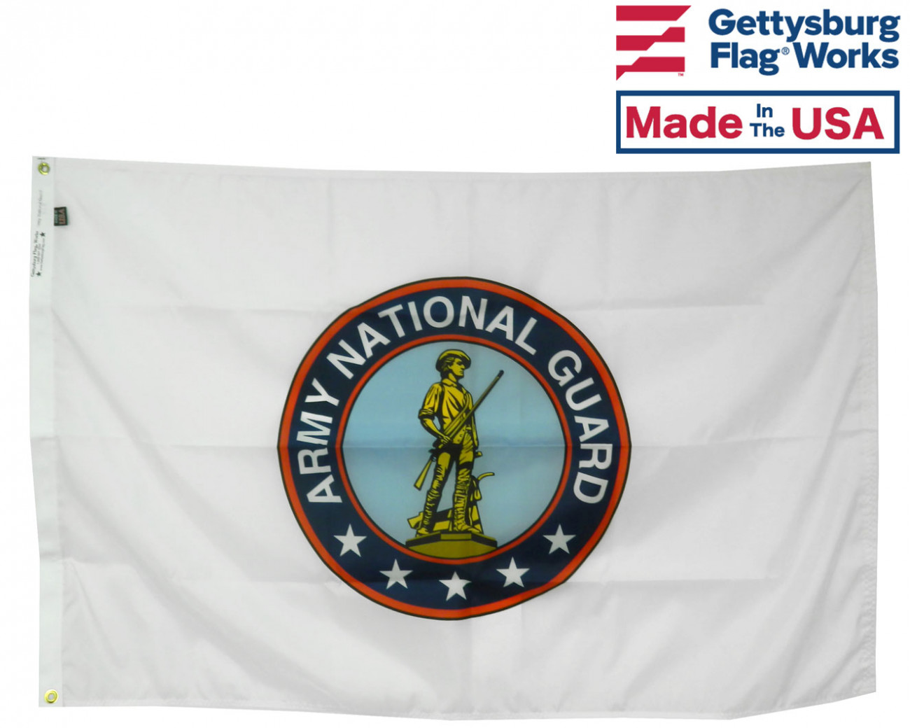 Army National Guard Flag-2x3'-Red Border