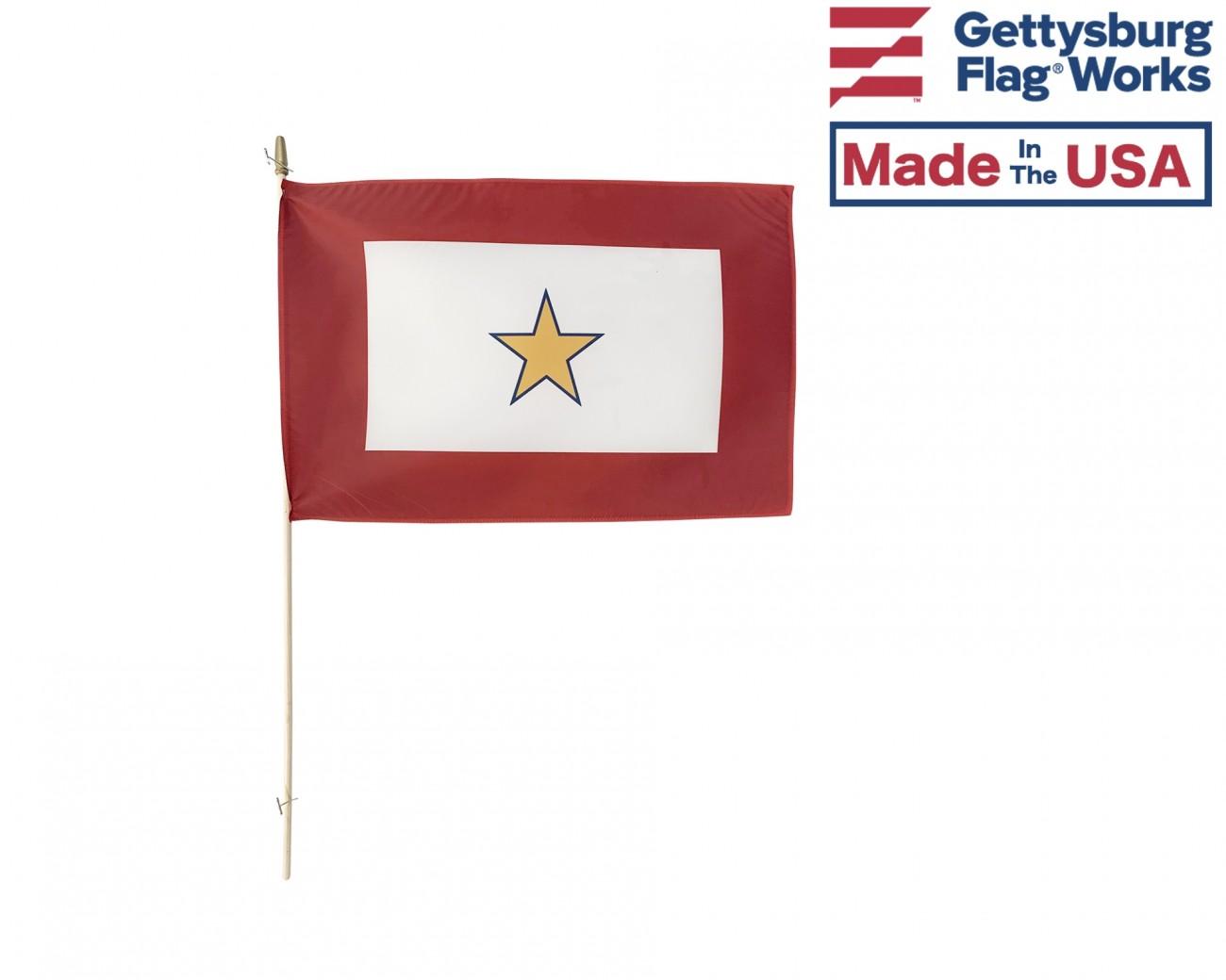 "12/""x18/"" Coast Guard Wooden Stick Flag NEW"