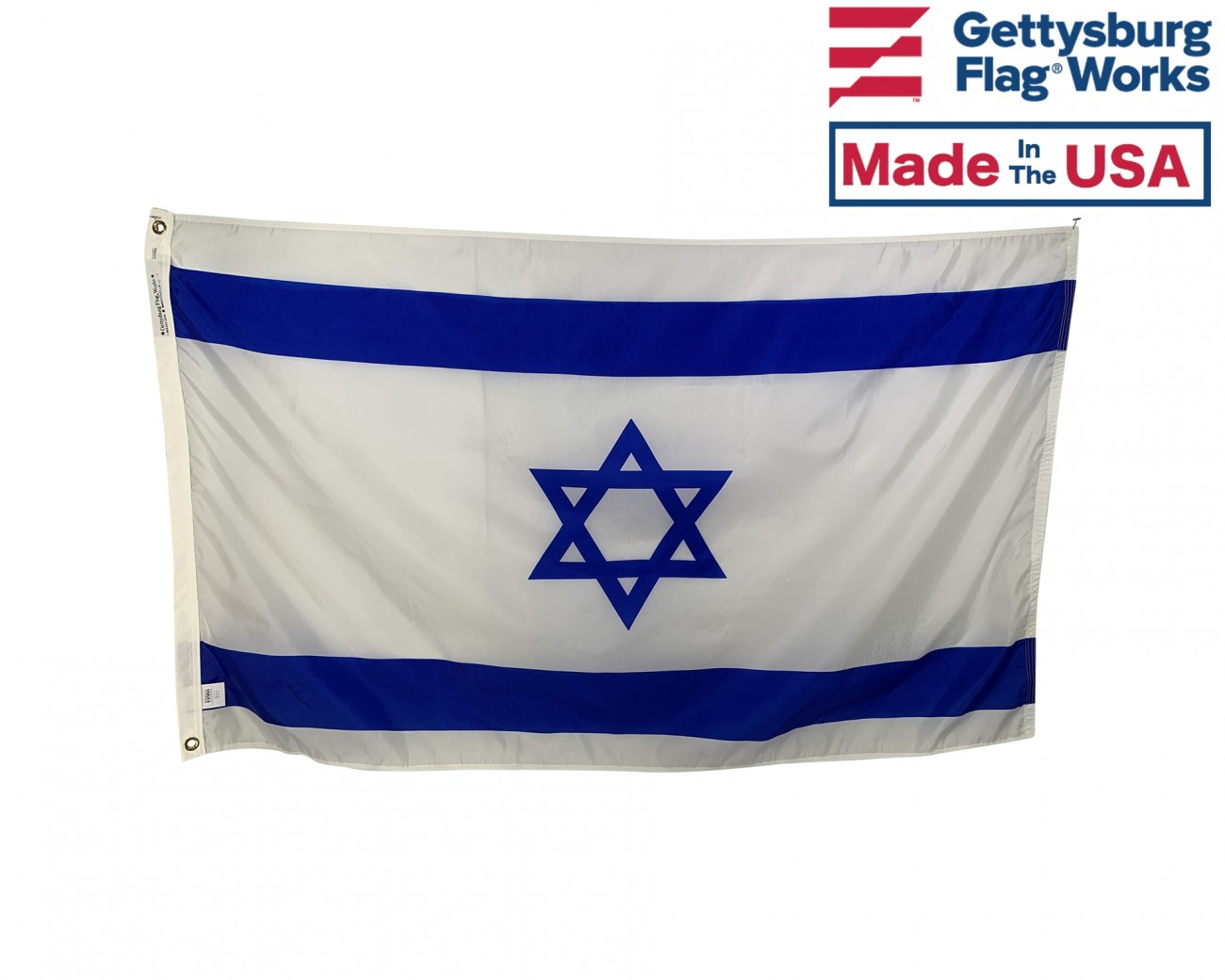 Israel flag lapel pin  Blue White With American flag attached  NEW!!
