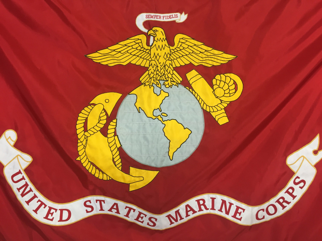 US Marine Applique Flags Made in the USA  896bf66ba97