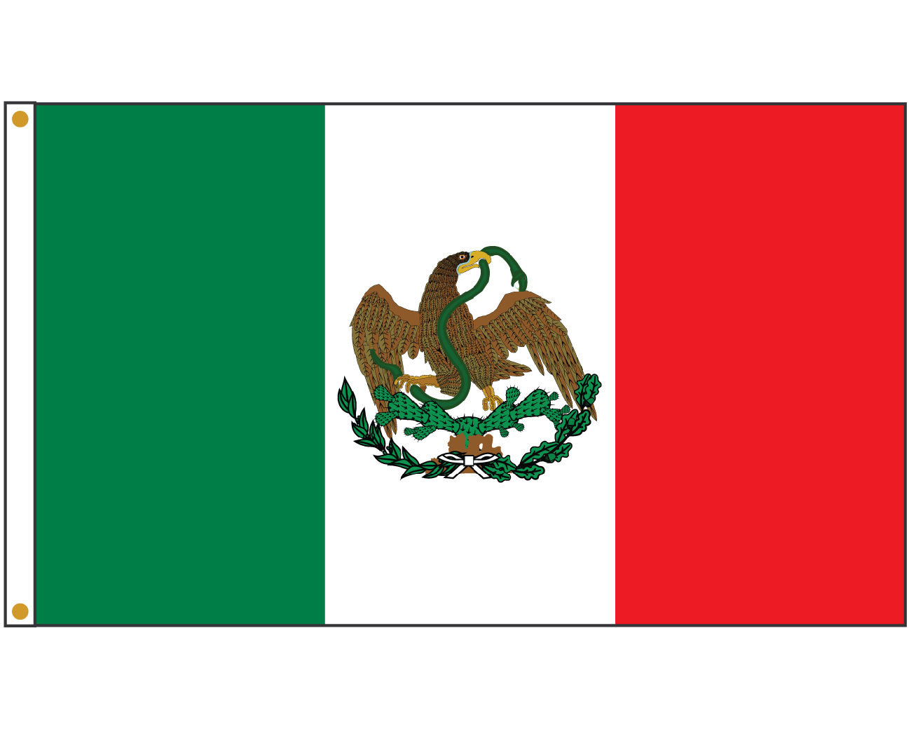mexico flag 1824 1836 3x5 mexico flags north america flags
