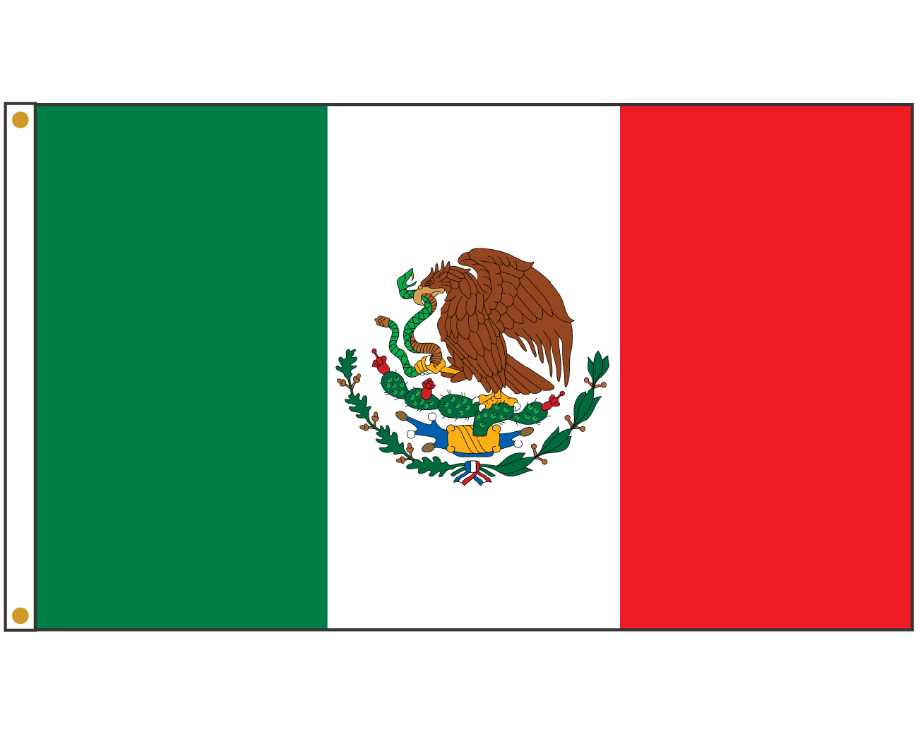 Dramatic image inside mexico flag printable