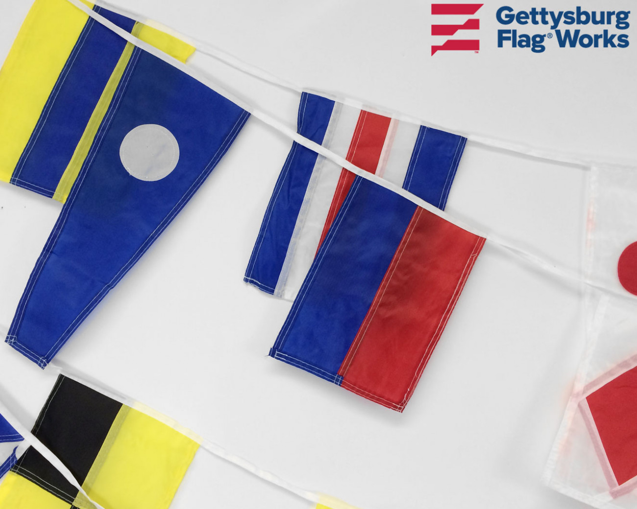 Signal Flag String of 40 Flags - Nautical & Marine Ensigns ...