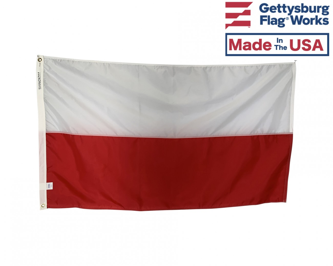Country of Poland Rectangle Flag Lapel Pin