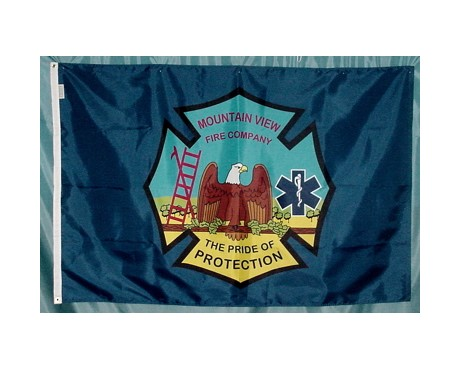 Outdoor Custom flag for Mountain View Fire