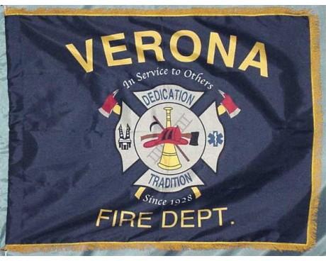 Verona Fire Department Parade Flag