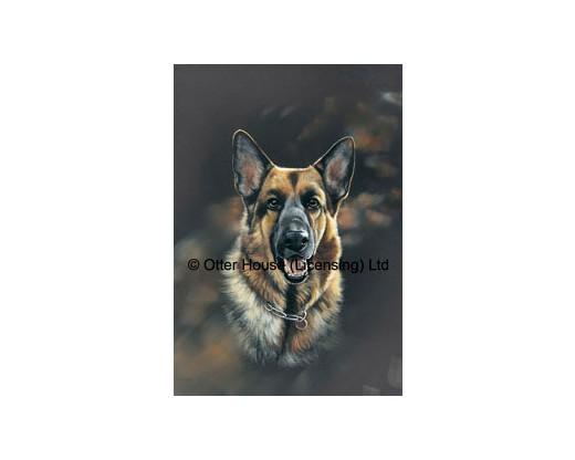 German Shepherd Flag (Painting)