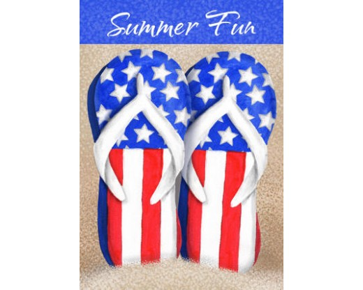 Patriotic Flip Flops House Banner