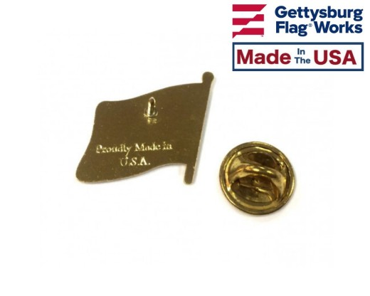 American flag lapel pin back