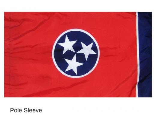 Tennessee Indoor Sleeve Flag
