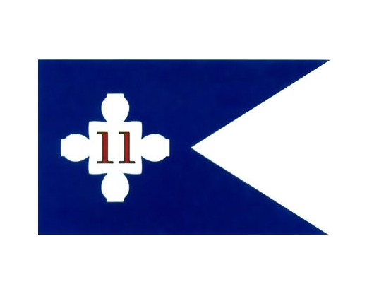 11th Corp HQ Guidon (1863) Flag - 3x5'