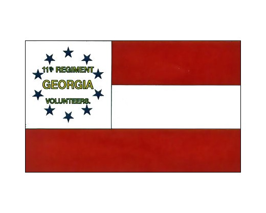 11th GA Infantry Flag - 3x5'