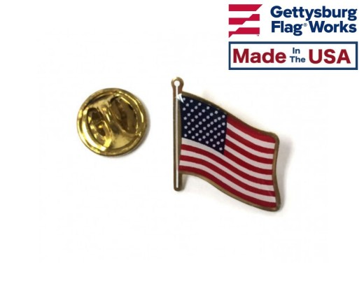 American Flag lapel pin with clutch