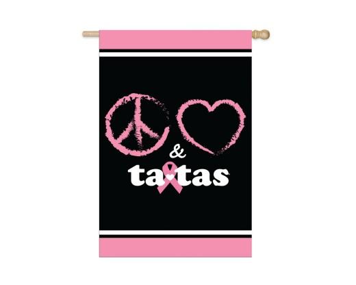 Peace Love & Tatas Flag