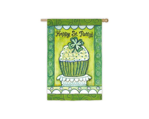 Happy St. Patrick's Day Cupcake Flag