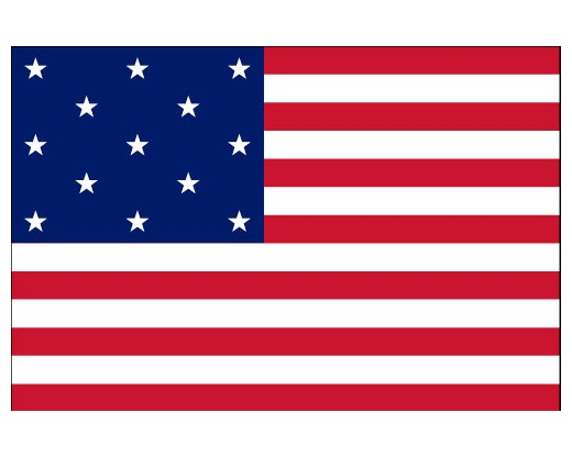 American, 13 Stars & Stripes Flag