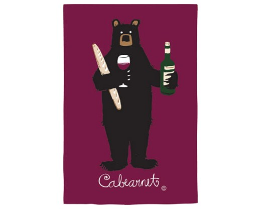 Cabearnet Wine Bear House Flag