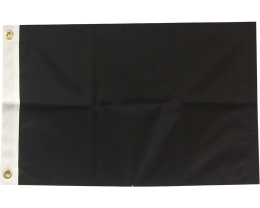 BLANK NYLON GOLF FLAG, Black
