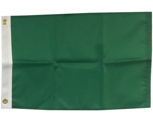 BLANK NYLON GOLF FLAG, Emerald Green