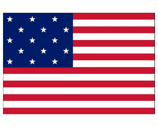 American, 15 Stars & Stripes Flag