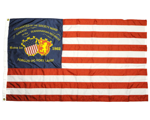 15th WI Infantry Regiment Norwegian Flag - 3x5'