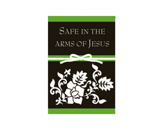In The Arms Of Jesus Garden Flag