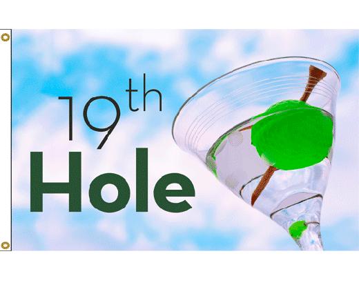 19th Hole Martini Flag
