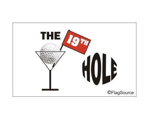 19th Hole Flag - 3x5'