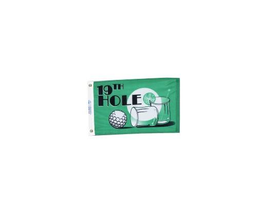 """19th Hole Flag - 12x18"""""""