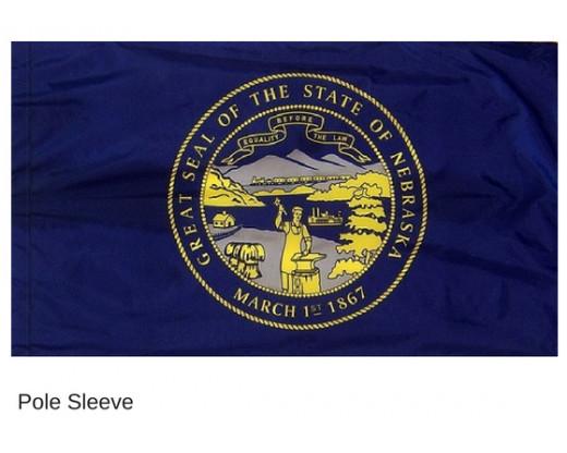 Nebraska Indoor Flag Sleeve