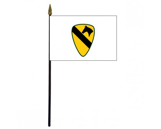 1st Cavalry Division Stick Flag - 4x6""