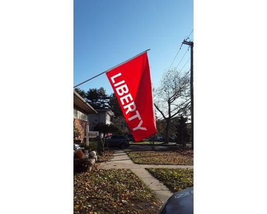 Huntington Red Liberty Flag