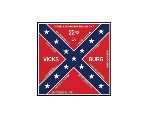 22nd LA Infantry Flag - 4x4'