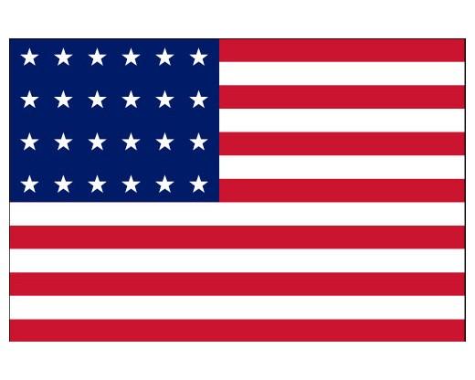American, 24 Star Flag