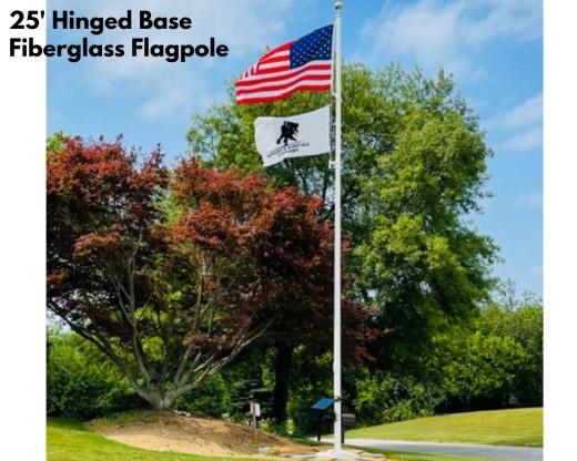 Fiberglass In-Ground Flag pole