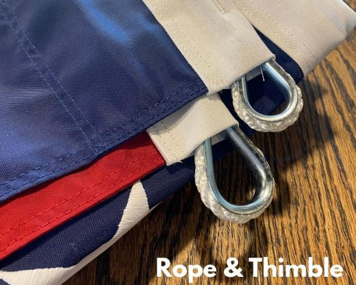 Rope & thimble attachment