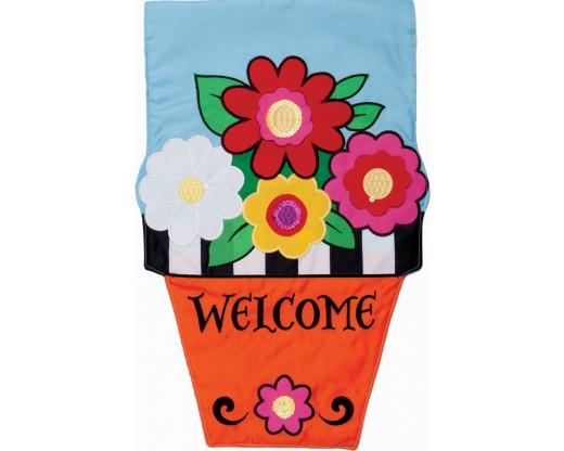 Flower Pot Garden Flag