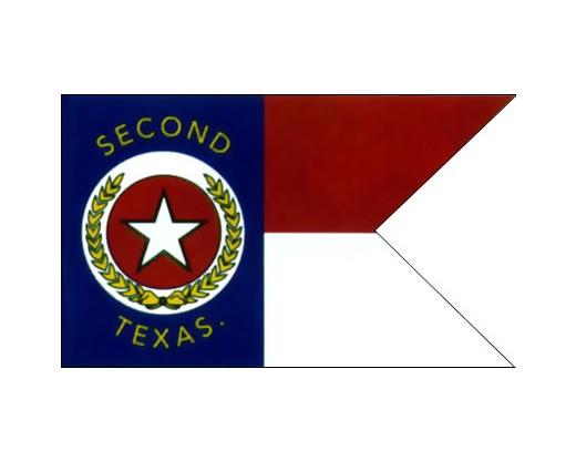 2nd Texas Cavalry Guidon Flag - 3x5'