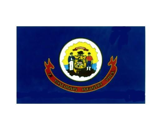 2nd WI Infantry Regiment Flag - 3x5'