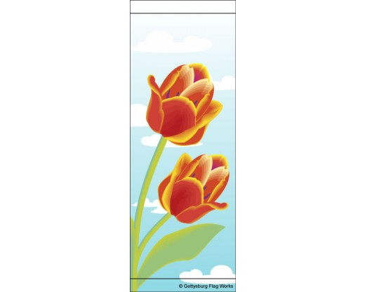 Red Tulips Avenue Banner