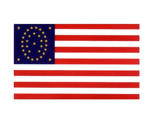 34 Star Oval Flag (Gold Stars) - 3x5'